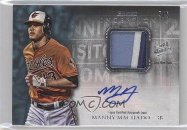 2013 Bowman Inception - Autographed Patches - Blue #APA-MM - Manny Machado /5