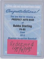 Bubba Starling [REDEMPTION Being Redeemed]