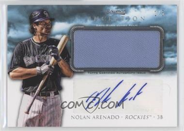 2013 Bowman Inception Autographed Jumbo Relics Blue #AJR-NA - Nolan Arenado /5