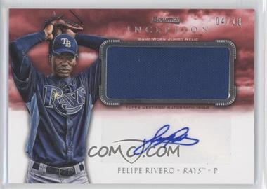 2013 Bowman Inception Autographed Jumbo Relics Red #AJR-FR - Felipe Rivero /10