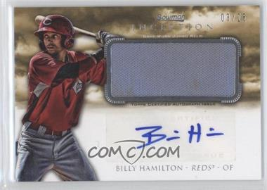 2013 Bowman Inception Autographed Jumbo Relics #AJR-BH - Billy Hamilton /25