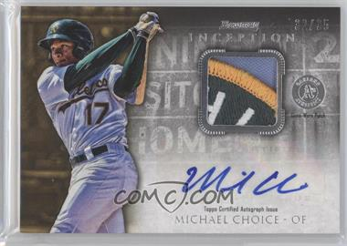 2013 Bowman Inception Autographed Patches #APA-MC - Michael Choice /35