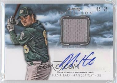 2013 Bowman Inception Autographed Relics Blue #AR-MH - Miles Head /25