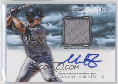 2013 Bowman Inception Autographed Relics Blue #AR-MZ - Mike Zunino /25