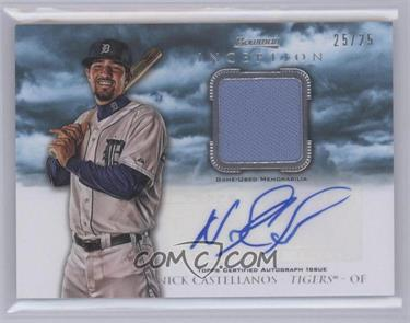 2013 Bowman Inception Autographed Relics Blue #AR-NC - Nick Castellanos /25 [Mint]