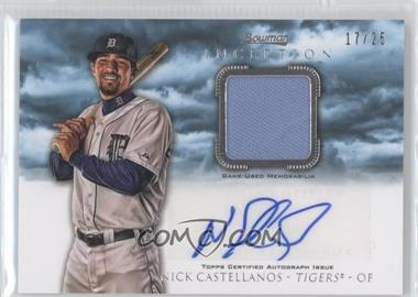 2013 Bowman Inception Autographed Relics Blue #AR-NC - Nick Castellanos /25