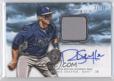 2013 Bowman Inception Autographed Relics Blue #AR-RS - Richie Shaffer /25