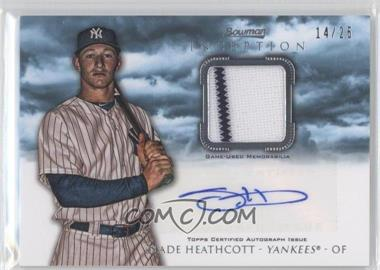 2013 Bowman Inception Autographed Relics Blue #AR-SH - Slade Heathcott /25