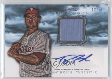 2013 Bowman Inception Autographed Relics Blue #AR-TJ - Tommy Joseph /25