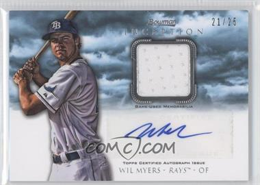2013 Bowman Inception Autographed Relics Blue #AR-WM - Wil Myers /25