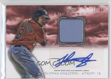 2013 Bowman Inception Autographed Relics Red #AR-JS - Jonathan Singleton /50