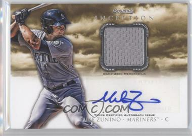 2013 Bowman Inception Autographed Relics #AR-MZ - Mike Zunino