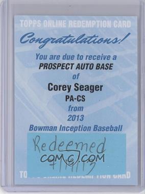2013 Bowman Inception Prospect Autographs [Autographed] #PA-CS - Corey Seager [REDEMPTIONBeingRedeemed]