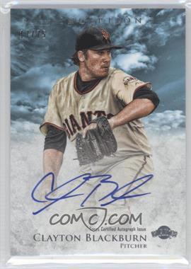 2013 Bowman Inception Prospect Autographs Blue #PA-CBL - Clayton Blackburn /75