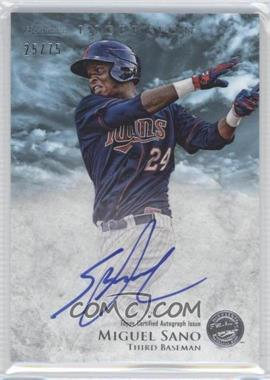 2013 Bowman Inception Prospect Autographs Blue #PA-MS - Miguel Sano /75