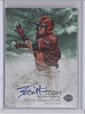 2013 Bowman Inception Prospect Autographs Green #PA-BH - Billy Hamilton /25