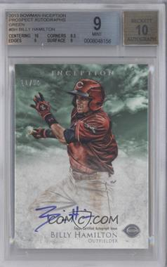 2013 Bowman Inception Prospect Autographs Green #PA-BH - Billy Hamilton /25 [BGS 9]