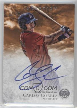 2013 Bowman Inception Prospect Autographs Orange #PA-CC - Carlos Correa /50