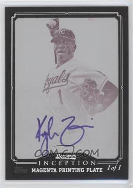 2013 Bowman Inception Prospect Autographs Printing Plate Magenta Framed #PA-KZ - Kyle Zimmer /1