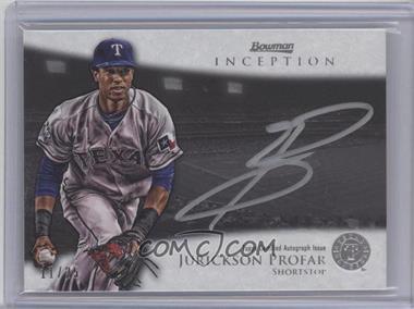 2013 Bowman Inception Silver Signings Autographs [Autographed] #SS-JP - Jurickson Profar /25