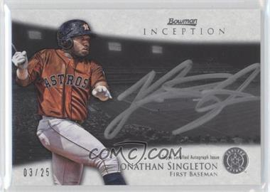 2013 Bowman Inception Silver Signings Autographs [Autographed] #SS-JS - Jonathan Singleton /25