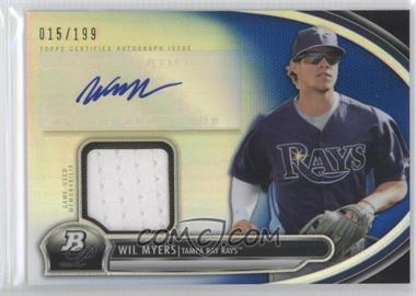 2013 Bowman Platinum - Autographed Relic - Blue Refractor #AR-WMY - Wil Myers /199
