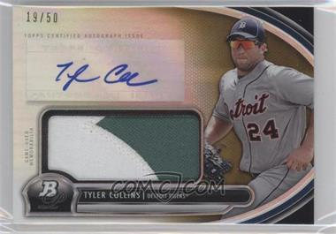 2013 Bowman Platinum Autographed Jumbo Relic Gold Refractor #AJR-TC - Tyler Collins /50