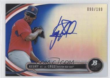 2013 Bowman Platinum Autographed Prospects Blue Refractor #BPAP-KD - Keury De La Cruz /199