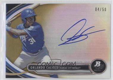 2013 Bowman Platinum Autographed Prospects Gold Refractor #BPAP-OC - Orlando Calixte /50