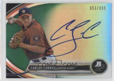 2013 Bowman Platinum Autographed Prospects Green Refractor #BPAP-CC - Carlos Correa /399