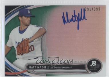 2013 Bowman Platinum Autographed Prospects Green Refractor #BPAP-MM - Matt Magill /399