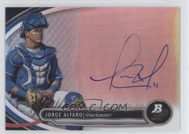 2013 Bowman Platinum Autographed Prospects #BPAP-JA - Jorge Alfaro