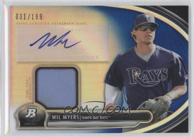 2013 Bowman Platinum Autographed Relic Blue Refractor #AR-WMY - Wil Myers /199