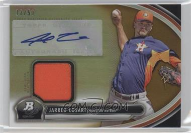 2013 Bowman Platinum Autographed Relic Gold Refractor #AR-JC - Jarred Cosart /50