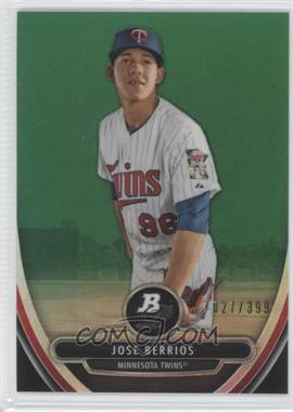 2013 Bowman Platinum Prospects Chrome Green Refractor #BPCP84 - Jose Berrios /399