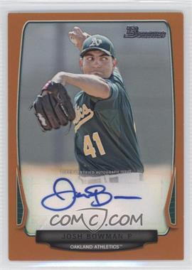 2013 Bowman Prospect Autographs Retail Orange #BPA-JB - Josh Bowman /250