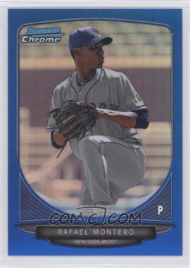 2013 Bowman Prospects Chrome Blue Refractor #BCP50 - Rafael Montero /250