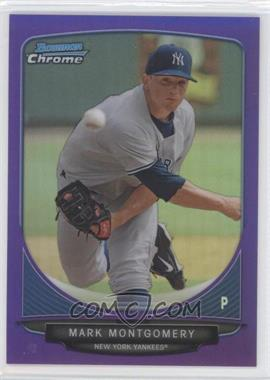 2013 Bowman Prospects Chrome Purple Refractor #BCP3 - Mark Montgomery /199