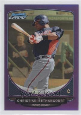 2013 Bowman Prospects Chrome Purple Refractor #BCP72 - Christian Bethancourt /199