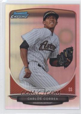 2013 Bowman Prospects Chrome Refractor #BCP100 - Carlos Correa /500
