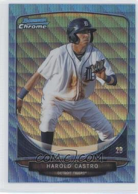 2013 Bowman Prospects Chrome Wrapper Redemption Blue Wave Refractor #BCP32 - Harold Castro