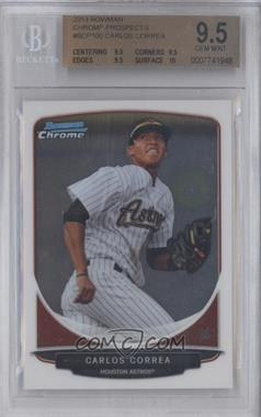 2013 Bowman Prospects Chrome #BCP100 - Carlos Correa [BGS9.5]