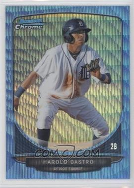 2013 Bowman Prospects Wrapper Redemption Chrome Blue Wave Refractor #BCP32 - Harold Castro