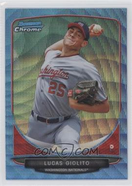 2013 Bowman Prospects Wrapper Redemption Chrome Blue Wave Refractor #BCP5 - Lucas Giolito