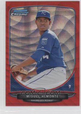 2013 Bowman Prospects Wrapper Redemption Chrome Red Wave Refractor #BCP131 - Miguel Almonte /25