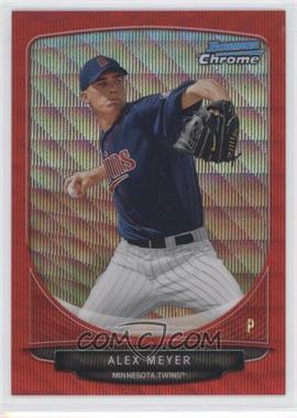 2013 Bowman Prospects Wrapper Redemption Chrome Red Wave Refractor #BCP80 - Alex Meyer /25