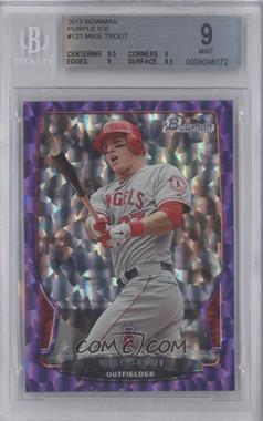 2013 Bowman Purple Ice #121 - Mike Trout /10 [BGS 9]
