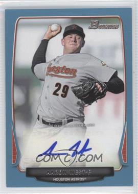 2013 Bowman Retail Prospect Autographs Blue #BPA-AW - Aaron West /500