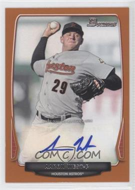 2013 Bowman Retail Prospect Autographs Orange #BPA-AW - Aaron West /250