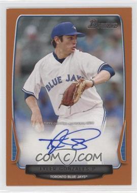2013 Bowman Retail Prospect Autographs Orange #BPA-TG - Tyler Gonzales /250